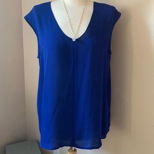 JCrew Royal Blue Cap Sleeve Blouse NWT